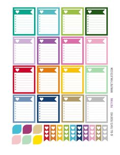 Monthly Planner Stickers - Rainbow Sampler w/Checklist Boxes + More! Planner Labels - Fits Erin Condren Life Planner - MP4883503149294 by partyINK on Etsy