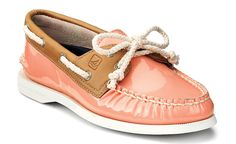 Dear coral patent leather sperrys, please magically find your way into my closet.   thanks <3  ~Kristina
