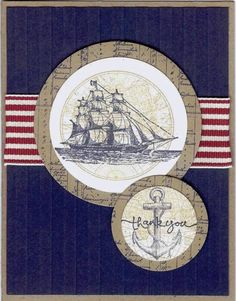 Thank You Ship by Nan Cee's - Cards and Paper Crafts at Splitcoaststampers