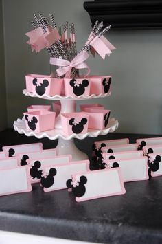 Minnie Mouse decoraciones paquete Minnie Mouse por GiggleBees