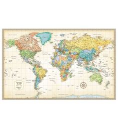 World map poster modern current earth globe print wall art large world map poster modern current earth globe print wall art large maxi world map pinterest globe modern and walls gumiabroncs Image collections