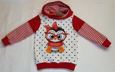 Kinder Hoodie - Pinguin - Gr. 98 aus Biojersey Panel, Shirts, Hoodies, Fashion, Cotton, Fashion Styles, Parka, Fashion Illustrations, Dress Shirts
