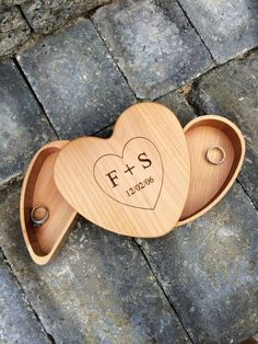personalized heart keepsake box , ring bearer alternative , keepsake box , jewelry box , bridesmaid gift