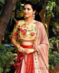 Lehenga Designs, Ethnic Fashion, Sari, Strawberry Fields, Bridal, Model, Wedding, Inspiration, Outfits