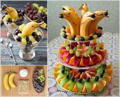DECORATE YOUR FRUIT PLATTER WITH BANANA DOLPHINS