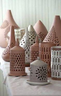 Most current Screen Slab Pottery lantern Concepts Pierced Lanterns – Aid to Artisans – Egypt Raku Pottery, Slab Pottery, Pottery Art, Farmhouse Pottery, Ceramics Projects, Clay Projects, Clay Crafts, Ceramic Lantern, Ceramic Light