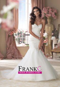Strapless Mermaid wedding dresses.