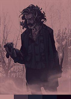 """gorlassar: """"  Cain from Supernatural for @luciferofficial Palette #17 """""""