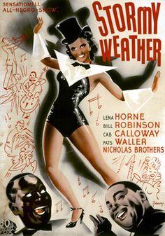 STORMY WEATHER (1943) - Lena Horne - Bill Robinson - Cab Calloway - Fats Waller - Nicholas Brothres - 20th Century-Fox - Movie Poster.