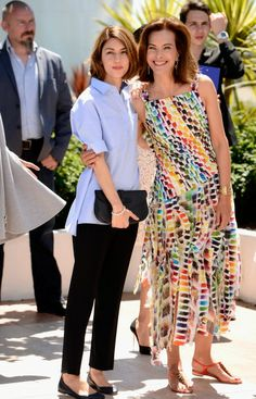 Jury members Sofia Coppola and Carole Bouquet in Cannes