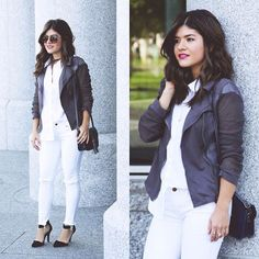 @chictalkch features her favorite fall jacket Trinity from #FevrieFashion