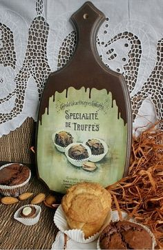 """Купить доска """"Truffes"""" - доска разделочная, доска декупаж, подарок на любой случай, дерево"""