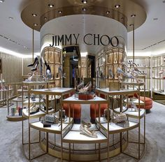 Jimmy Choo at Harrods London by Christian Lahoude Studio Shoe Store Design, Retail Store Design, Retail Shop, Retail Interior Design, Boutique Interior, Boutique Design, Design Patio, Store Interiors, Shop House Plans
