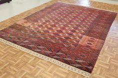 Red 7' 5 x 9' 10 Bokhara Rug   Oriental Rugs   eSaleRugs
