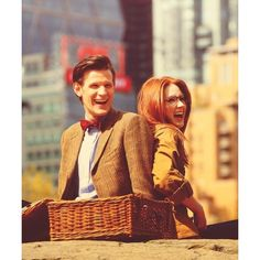 Matt Smith, Karen Gillan Chris, David, Matt, and the gang ❤ liked on Polyvore featuring doctor who, dw and backgrounds