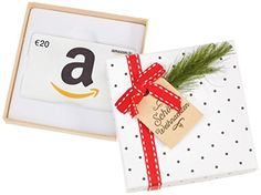 Amazon.de Geschenkgutschein in Geschenkbox - 20 EUR (Tannenzweig) Gift Wrapping, Cards, Gifts, Branches, Father Christmas, Xmas, Working Holidays, Paper Wrapping, Presents