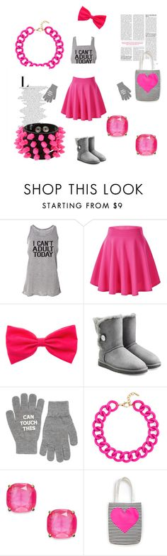 """""""Sometimes adult have to take a day off!!"""" by aaudreyowen on Polyvore featuring UGG Australia, Monki, BaubleBar, Kate Spade, Mia Bag, women's clothing, women's fashion, women, female and woman"""