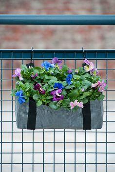 jardinera colgante textil ziggzagg