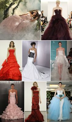 Bridal Gowns With Color | 2013 Wedding Dress Color Trend » Wedding Inspiration Blog, Wedding ...