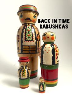 Rare Vintage Ukrainian Hutsul Babushka by BackInTimeBabushkas