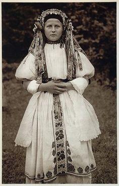 1953 Slovakian Bride Costume Kroje Bosaca Slovakia