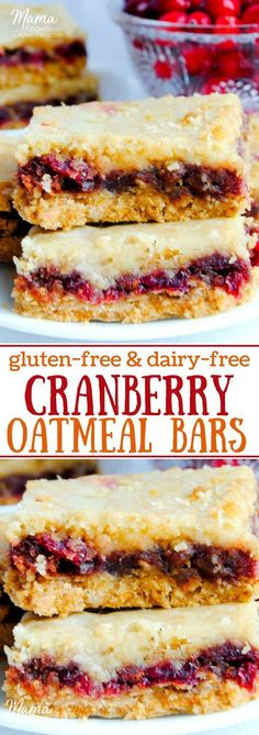 easy gluten-free cranberry oatmeal bars are a combination of sweet and tar. Super easy gluten-free cranberry oatmeal bars are a combination of sweet and tar., Super easy gluten-free cranberry oatmeal bars are a combination of sweet and tar. Gluten Free Bars, Gluten Free Sweets, Gluten Free Cookies, Gluten Free Baking, Gluten Free Potluck, Gluten Free Oatmeal, Gluten Free Thanksgiving, Thanksgiving Desserts, Thanksgiving Ideas