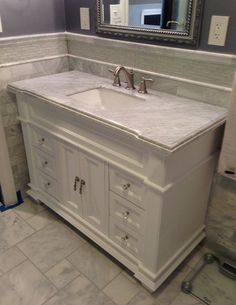 Customer Image Gallery For Elizabeth 48 Inch Bathroom Vanity (Carrera/White ):