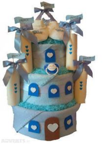 Little Prince Castle Nappy Cake from Adverts.ie #Babycake #Babygift
