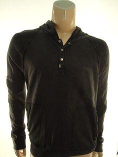 CALVIN KLEIN $79.50 BLACK GRAY PULLOVER HOODIE FLEECE SWEATSHIRT size - L #CalvinKlein #Hoodie