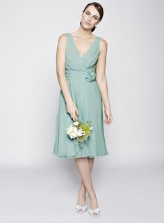 BHS Dark Mint Amber Short Bridesmaid Dress Price: £80.00