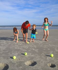 Beach Bowling - site has great ideas for beach games