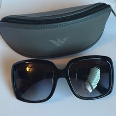 Reducing PriceAuthentic Emporio Armani Shades Emporio Armani 4008 Sunglasses Black with gold adornment on side with EA logo and has gradient lenses. Comes with case and cloth. Open  to any reasonable offer. Please use offer button. No trades/modeling. Thanks  Emporio Armani Accessories Sunglasses