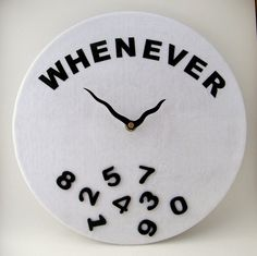 Teen Novelty Wall Clock Vintage LP Kid's Black di IsItNoonYet