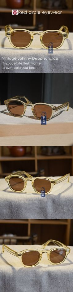 88bb645d026d5 Sunglasses 48559  Vintage Sunglasses Artists Eyeglass Crystal Yellow Frame Brown  Polarized Lens -  BUY IT NOW ONLY   50.75 on  eBay  sunglasses  vintage ...