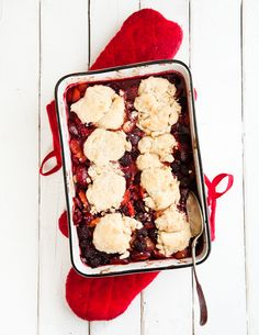 Boysenberry and Plum Cobbler via Desserts for Breakfast