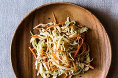 Crunchy Cabbage Salad with Miso-Ginger Dressing via Food 52. Made this for July 4 and ate it on hot dogs instead of cole slaw.
