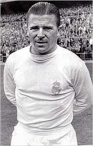 Ferenc Puskas, a prolific goal scorer for the national soccer team of Hungary and the Real Madrid club in Spain and, by wide agreement, the game's first international superstar Football Icon, Real Madrid Football, Best Football Team, World Football, Soccer World, Football Kits, School Football, Fifa, Das Wunder Von Bern