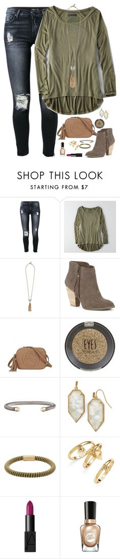 """I'll always love you, no matter what happens between us. "" by kaley-ii ❤ liked on Polyvore featuring 7 For All Mankind, American Eagle Outfitters, Lulu Frost, Sole Society, Gucci, Topshop, David Yurman, Kendra Scott, Carolina Bucci and Rebecca Minkoff"
