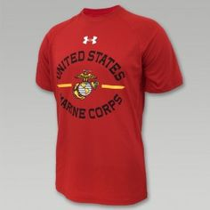 USMC EGA UNDER ARMOUR TECH T-SHIRT