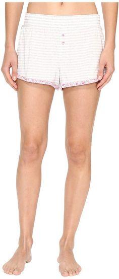 Jane & Bleecker Jersey Shorts 3511300 (Light Heather Grey Small Twin Stripe) Women's Pajama - Jane & Bleecker, Jersey Shorts 3511300, 3511300-060, Apparel Bottom Sleepwear, Sleepwear, Bottom, Apparel, Clothes Clothing, Gift, - Street Fashion And Style Ideas