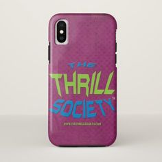 The Thrill Society Logo Squeezed Design iPhone X Case - diy cyo customize create your own personalize