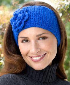 Best Free Crochet » Free Crochet Flower Headband Pattern from RedHeart.com