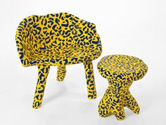 "painted ""rockie"" chair by designer Bauke Knottnerus / via theBohmerian.com"
