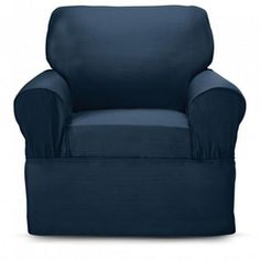 SureFit(TM) 'Dorchester' Chair Slipcover in indigo for couch and loveseat at the camp.