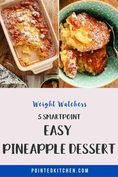 This tasty pineapple dessert is just 5 Smart Points per portion on Weight Watchers Blue, Purple Weight Watchers Pasta, Weight Watcher Cookies, Pineapple Pudding, Pineapple Desserts, Ww Recipes, Lunch Recipes, Healthy Recipes, How To Eat Paleo, Food To Make