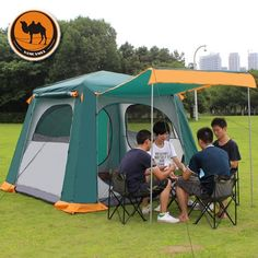 109.34$  Buy now - http://alixfb.worldwells.pw/go.php?t=32790901158 - Camel CS091 multi person 6-8 automatic tent outdoor camping double deck large tent camping tent
