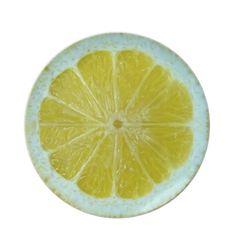 Yellow Lemon Slice Plate