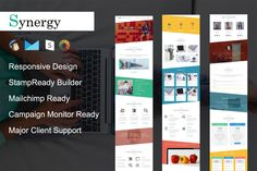 Synergy - Responsive Email Template by pennyblack on @creativemarket