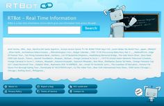 RTBot is a Real-time information service, where you can enter a topic title and instantly get related digital contents from multiple sources (e.g. Wikipedia, Youtube, Twitter, Facebook, Flickr, Books, Newspapers, Magazines) all at once.