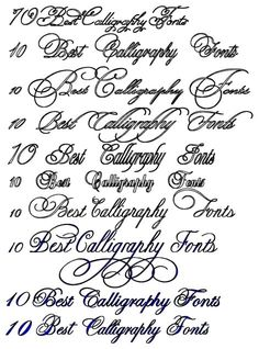 Best Calligraphy Fonts Tattoo And On